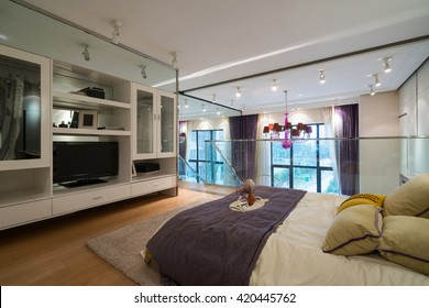 modern bedroom with nice decoration