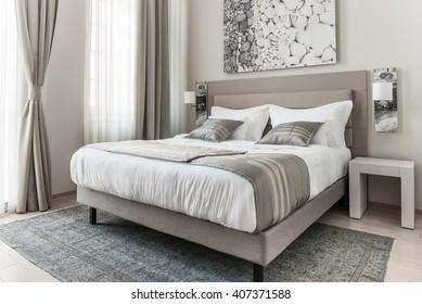 Modern beige bedroom