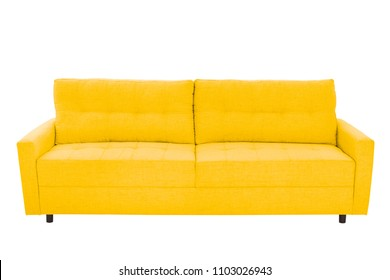 modern beige suede couch sofa   isolated on white background