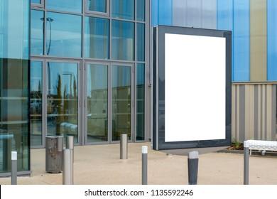 Modern billboard poster design mock up