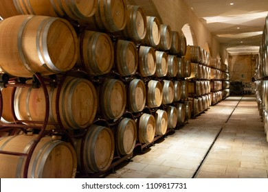Modern bio wine production factory in Italy, inox steel tanks used for fermentation of wine grapes