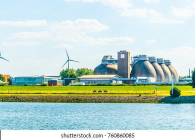 Modern biogas factory in Bremen, Germany