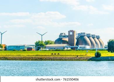Modern biogas factory in Bremen, Germany