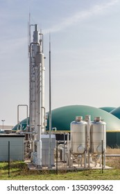 Modern biogas plant for the production of electricity, heat and methane