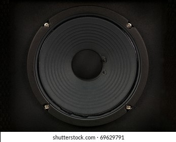 A modern black amplifier audio speaker image