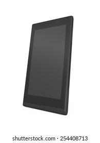 Modern black smart phone on white background