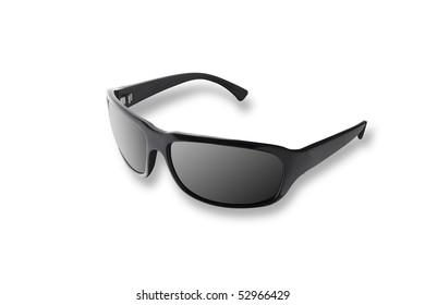 Modern black sun glasses