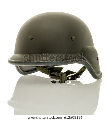 Modern Black Tactial Helmet On Isolated Foto de stock (editar ahora ... 02977907fff