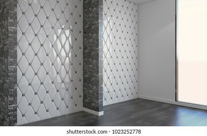 Modern blank    bathroom.