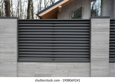 Modern blinds fence, shutter fence, louvers fence