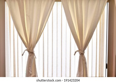 Modern blinds on the window