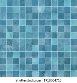 Modern Blue Sky Ceramic Tile Mosaic Texture Material. Great for Interior Design