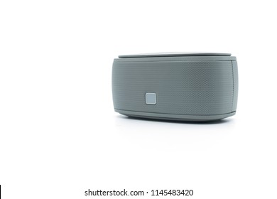 Modern bluetooth speaker .isolate on white background, mini bluetooth speaker