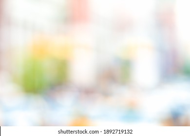 MODERN BLURRED URBAN BACKGROUND WITH SOFT COLORFUL BOKEH