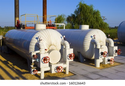Modern boiler room equipment for heating system.