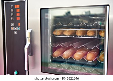 Modern bread oven in bakery