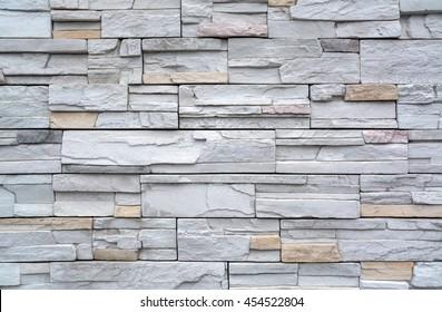 Modern brick wall, Stone wall