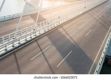 modern bridge with bituminous pavement