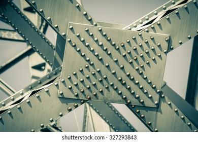Modern Bridge frame closeup. Filtered image