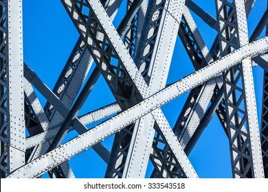 Modern Bridge frame closeup. Horizontal image