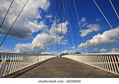 a modern bridge in Osijek