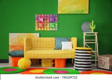 Modern bright child's room interior