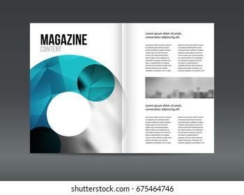 Modern brochure layout design template illustration set.