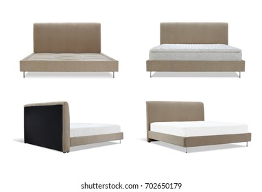 Modern brown Bed furniture in different angles