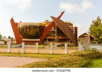 modern building in Arusha Tanzania. It is the Art Gallery which is part of the Cultural Heritage Center. It is free to the public.