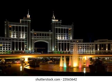 Modern building in Astana, capital of the Kazakhstan.