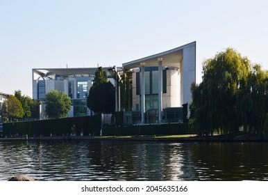 Modern Building Bundeskanzleramt at the River Spree in the Neighborhood Tiergarten, Berlin