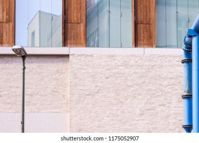 modern building by David Chipperfield, Detail, in Berlin Germany