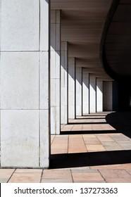 Modern building colonnade