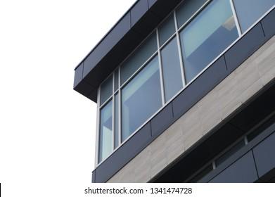 modern building corner glass structure office skyscraper