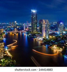 The Modern building Downtown business district of Bangkok.