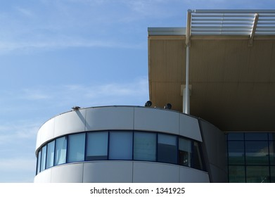 Modern building, gym swimming pool, Peckham, London.