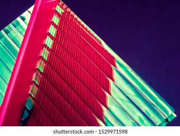 Modern building material. Thermoplastic polymer used in construction.