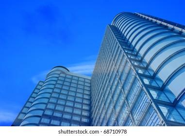 Modern building on a background sky
