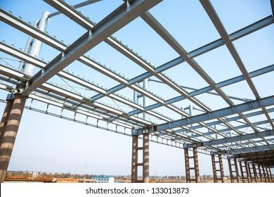 modern building roof under blue sky