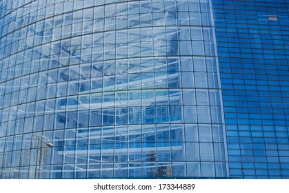 Modern building and sky with clouds