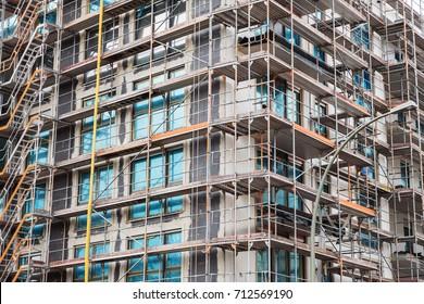 Modern building under construction.