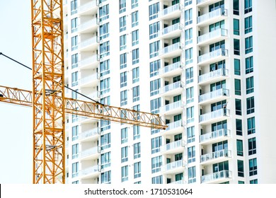 modern building under construction, photo as a background modern building in miami city florida usa america
