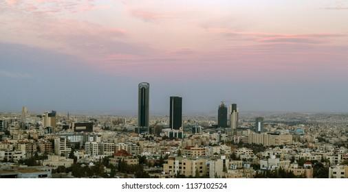 modern buildings in Amman jordan