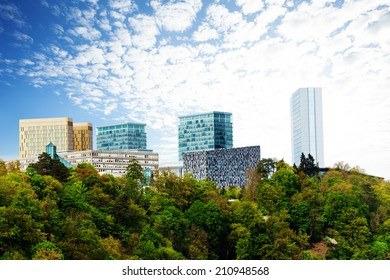 Modern buildings with beautiful sky in Luxembourg