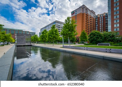 Modern buildings and Canal Park in the Navy Yard neighborhood of Washington, DC.