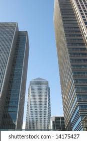modern buildings at Canary Wharf, London, UK