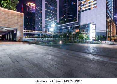 modern buildings in city at night,shenzhen,china.