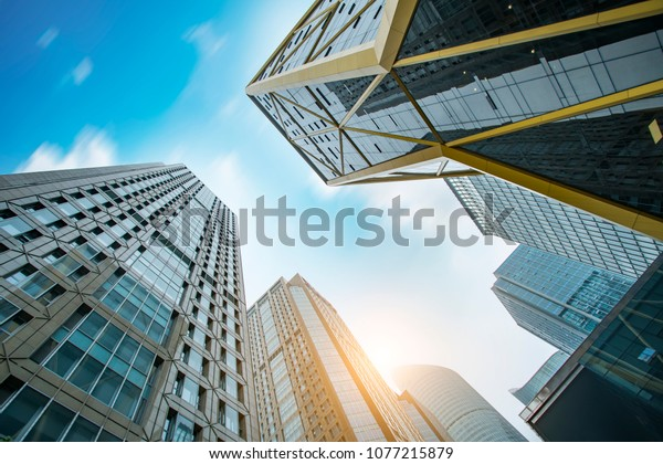 Modern Buildings City Skyscrapers Stock Photo (Edit Now) 1077215879