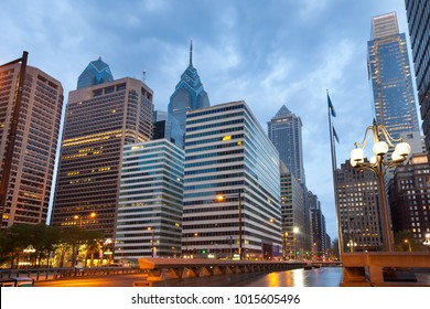 Modern buildings at downtown in Rittenhouse Square District, Philadelphia, Pennsylvania