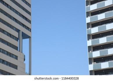 Modern buildings facades